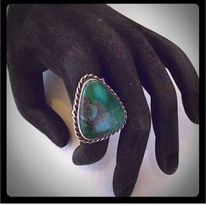 VTG SouthWestern Sterling Silver Chrysocolla Ring